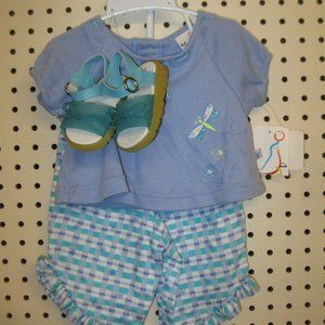 NWT Girls 3PC Out FIt By B.T. KIds